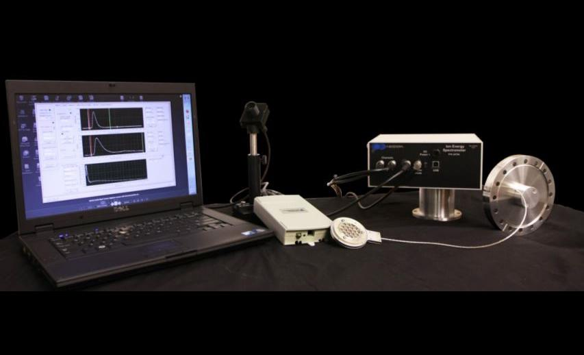 IES 200 Ion Spectrometer with Laptop outside of tool